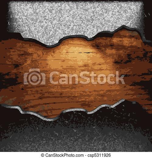 fer, bois, plaque - csp5311926