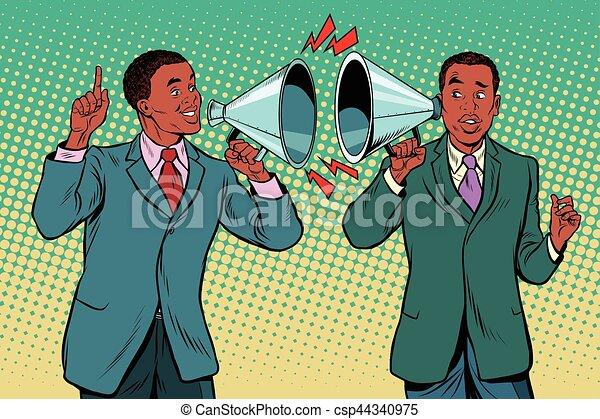 fera campagne, dialogue, gens, vendange, deux, entre, politique - csp44340975