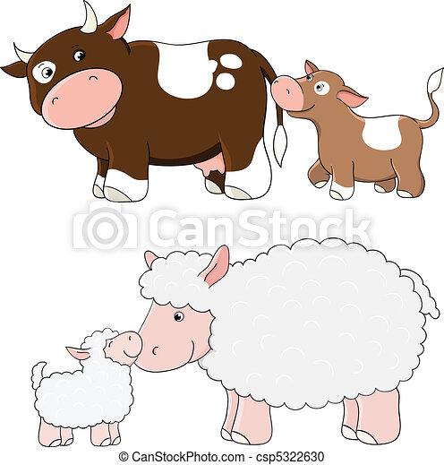 ferme, vecteur, animaux - csp5322630