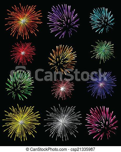 feux artifice, fond - csp21335987