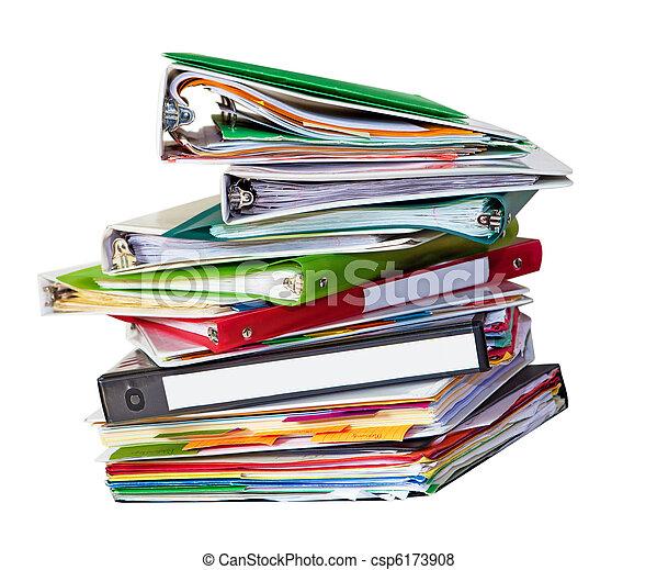 fichiers, vieux, pile - csp6173908