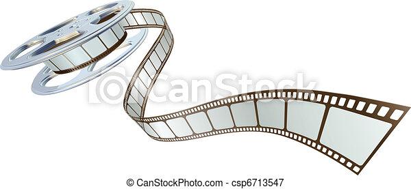 film, spooling, bobine, pellicule, dehors - csp6713547