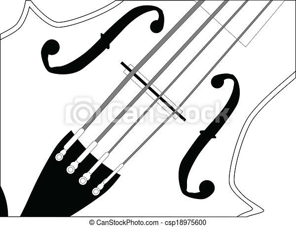 fin, violon, haut - csp18975600