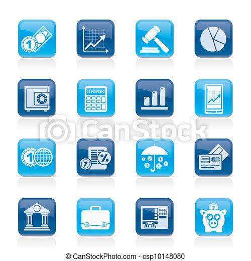 finance, icones affaires - csp10148080