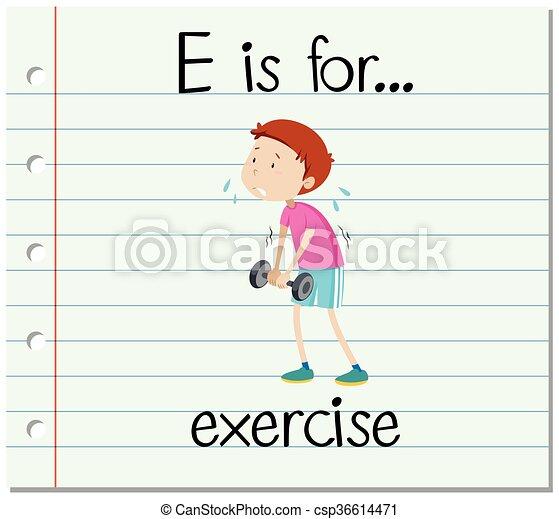 flashcard, e, exercice, lettre - csp36614471