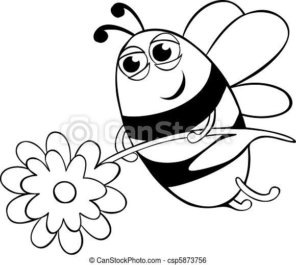 fleur, abeille - csp5873756