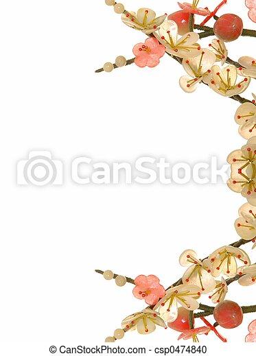 fleur, cerise, jade, 12 - csp0474840