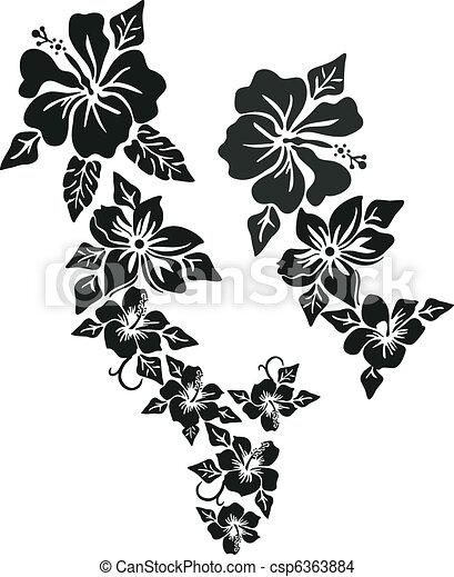 fleur tropicale, habillement - csp6363884