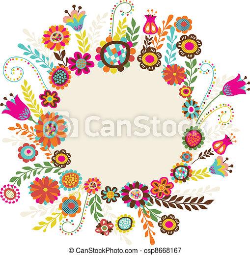 fleurs, carte voeux - csp8668167