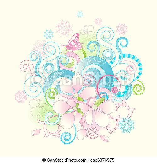 fleurs, défilements, printemps, résumé - csp6376575