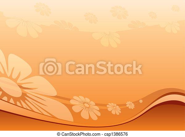 fleurs, désert - csp1386576