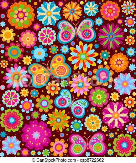fleurs, fond - csp8722662
