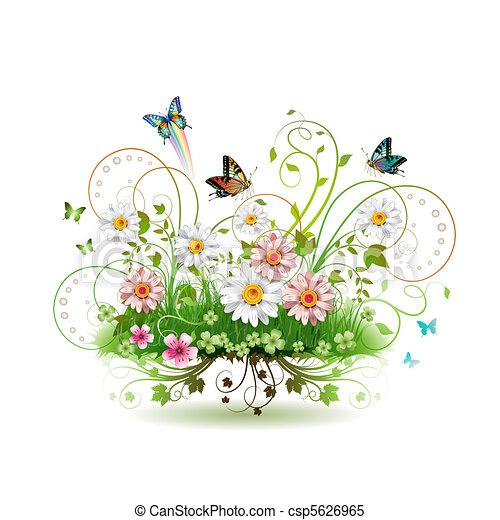 fleurs, herbe - csp5626965