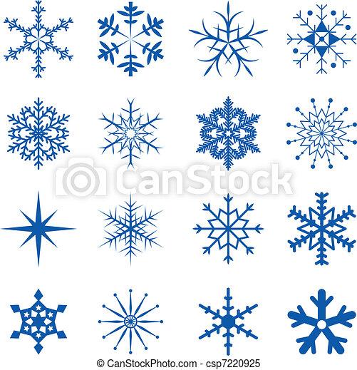 flocons neige, partie - csp7220925