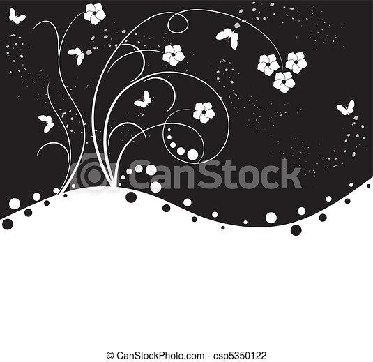 floral, résumé, fond - csp5350122