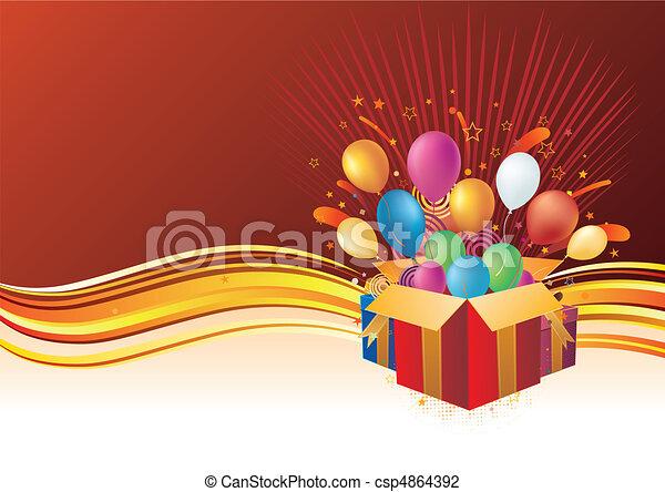 fond, célébration, vecteur - csp4864392