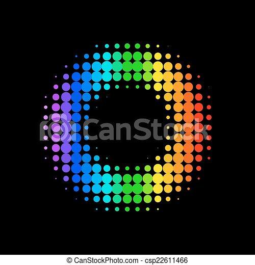 fond couleur, vecteur, point - csp22611466