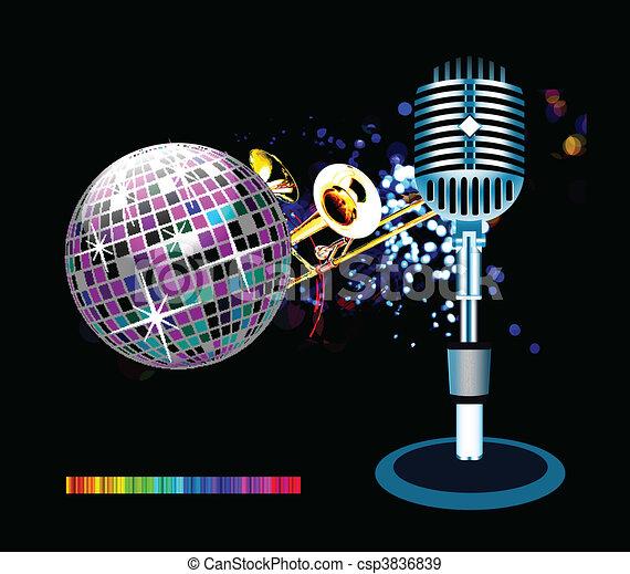 fond, disco - csp3836839