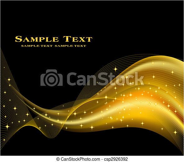 fond, doré, vecteur, résumé - csp2926392