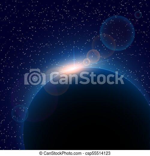 fond, espace, résumé, noir, étoiles, blanc - csp55514123