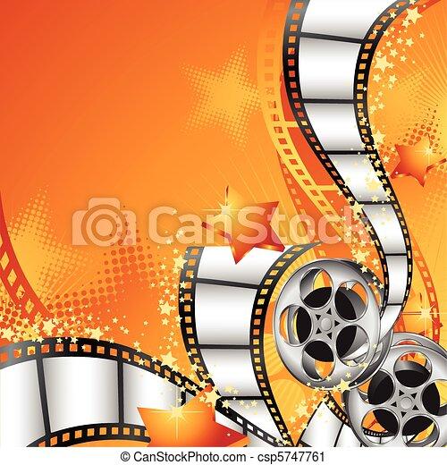 fond, filmer bobines - csp5747761