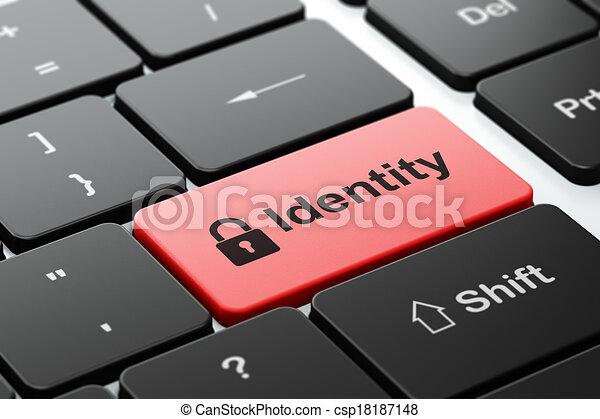 fond, intimité, cadenas, informatique, identité, fermé, clavier, concept: - csp18187148