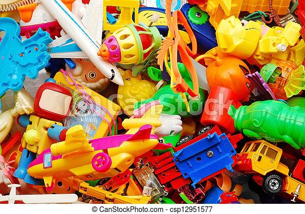 fond, jouets - csp12951577