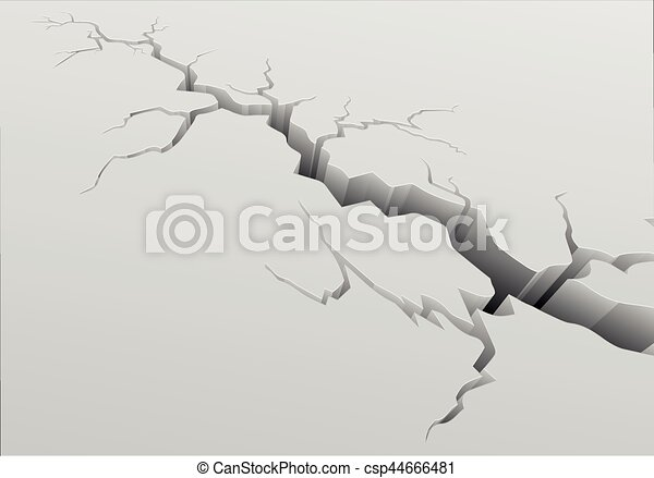 fond, profond, fissure - csp44666481