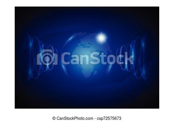 fond, résumé, technologie de pointe, vector., mondiale - csp72575673