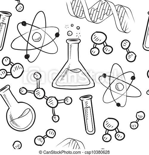 fond, seamless, science - csp10380628