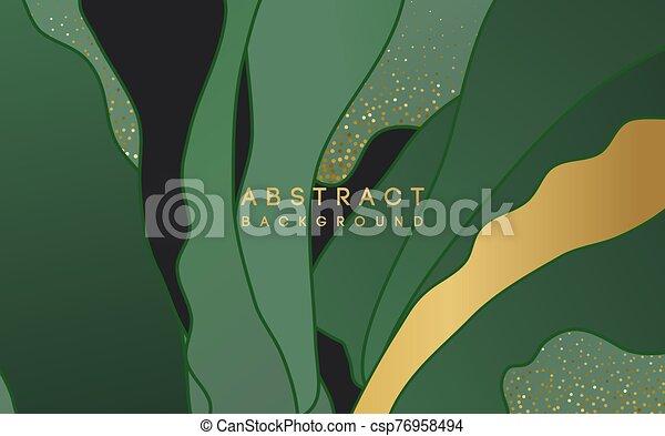 fond, vert, forme, or, résumé, scintillement - csp76958494