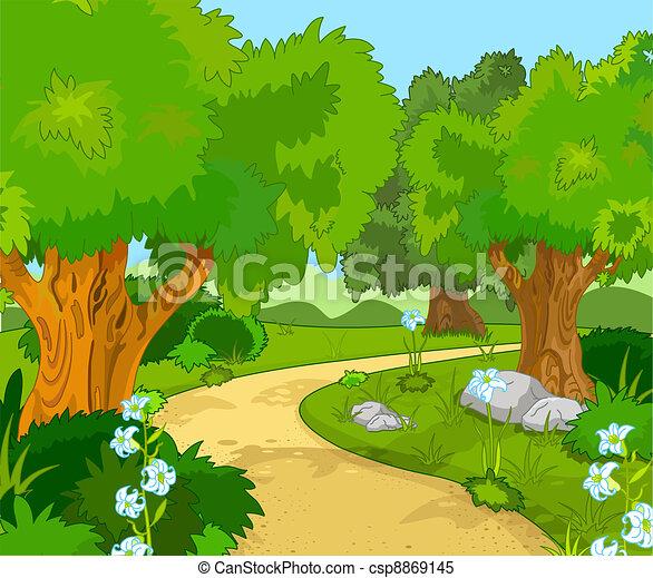 forêt, paysage - csp8869145