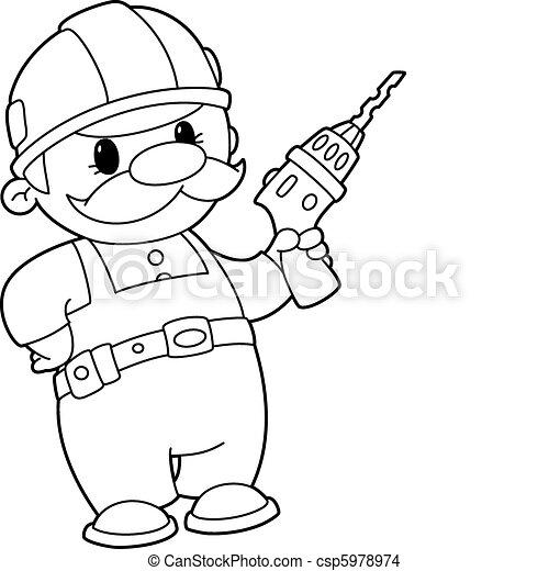 foret, constructeur, esquissé - csp5978974