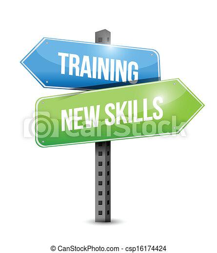 formation, techniques, illustration, signe, conception, nouveau, route - csp16174424