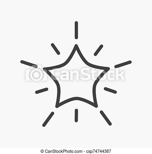 forme, étoile, icon., contour - csp74744387
