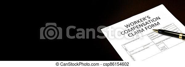 formulaire, réclamation, compensation, worker's, application - csp86154602