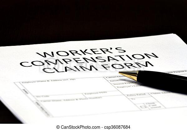 formulaire, worker's, comp, claims, compensation - csp36087684