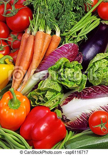 frais, assortiment, légumes - csp6116717