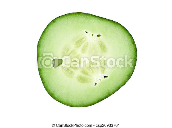 frais, couper, concombre - csp20933761