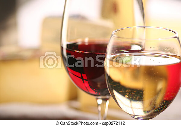 fromage, vin - csp0272112
