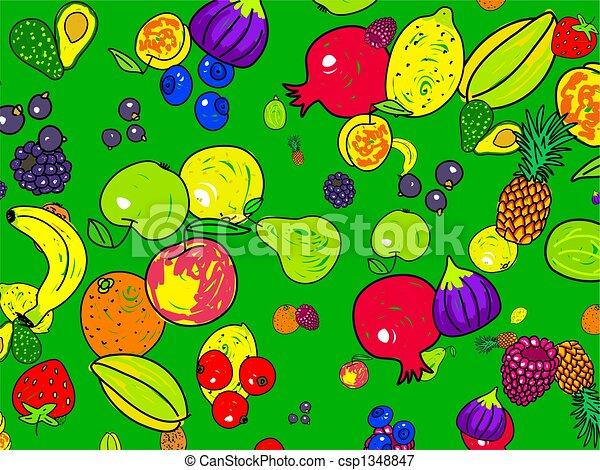 fruit, papier peint - csp1348847