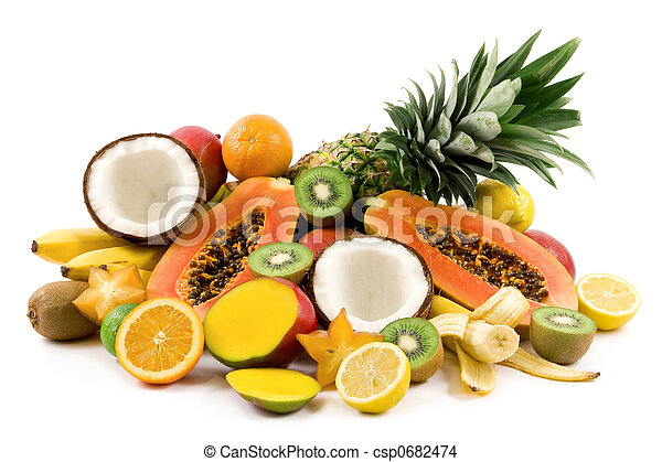 fruits tropicaux - csp0682474