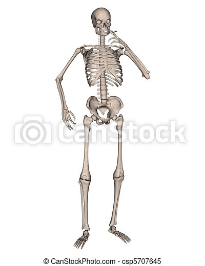 Fumer, squelette, cigarette. Rendu, digitalement, squelette, illustration,  cigarette, fumer, 3d. | CanStock