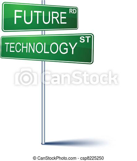 future-technology, signe., direction - csp8225250
