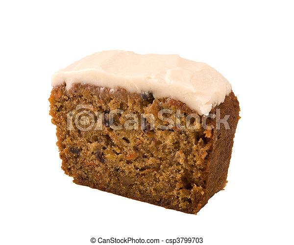 gâteau, carotte, isolé - csp3799703