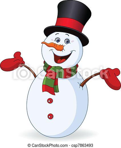 gai, bonhomme de neige - csp7863493