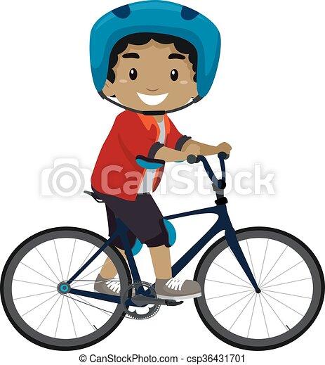 garçon, équitation bicyclette - csp36431701