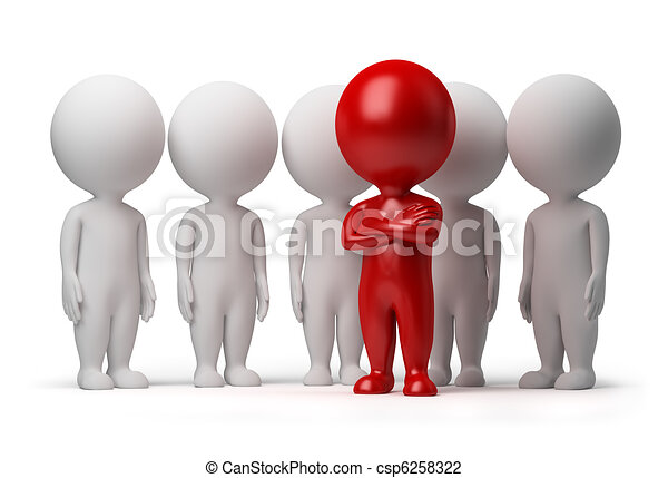 gens, -, équipe, petit, éditorial, 3d - csp6258322