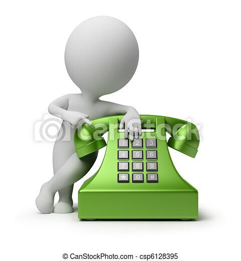 gens, -, appel téléphonique, petit, 3d - csp6128395