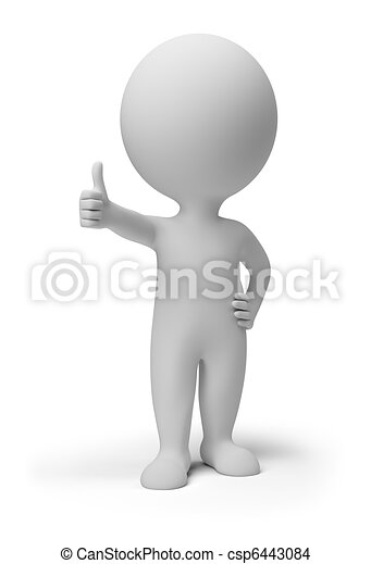 gens, positif, pose, -, petit, 3d - csp6443084